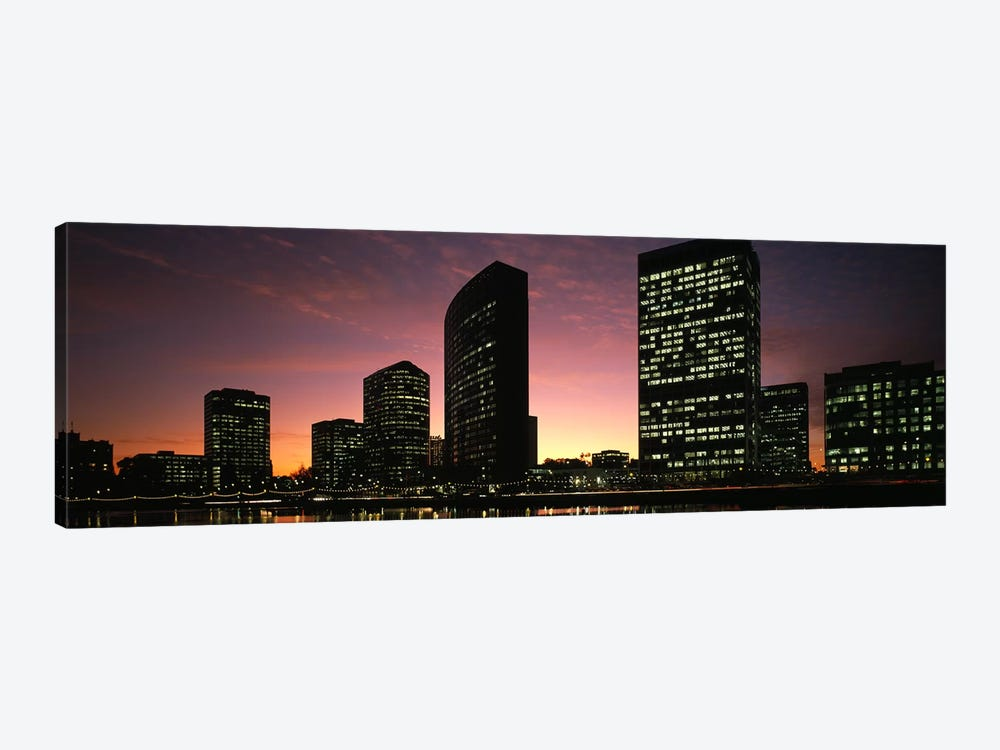 Buildings at the waterfront, Oakland, Alameda County, California, USA by Panoramic Images 1-piece Canvas Art