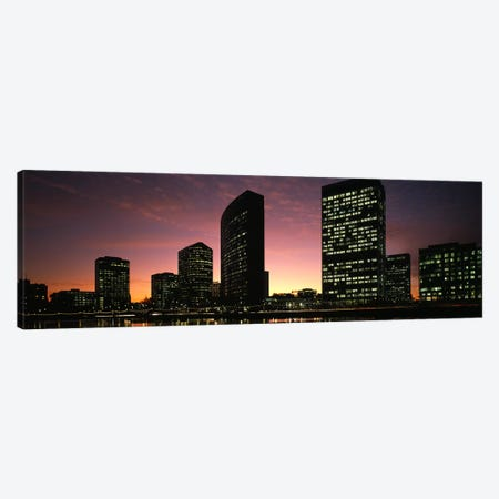 Buildings at the waterfront, Oakland, Alameda County, California, USA Canvas Print #PIM9162} by Panoramic Images Canvas Print