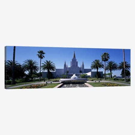 Formal garden in front of a temple, Oakland Temple, Oakland, Alameda County, California, USA #2 Canvas Print #PIM9165} by Panoramic Images Canvas Wall Art