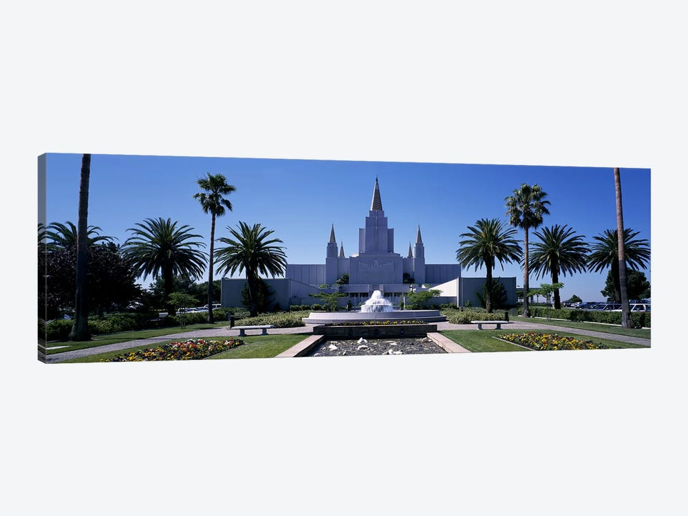 Formal garden in front of a temple, Oakland Temple, Oakland, Alameda County, California, USA #2 by Panoramic Images 1-piece Art Print