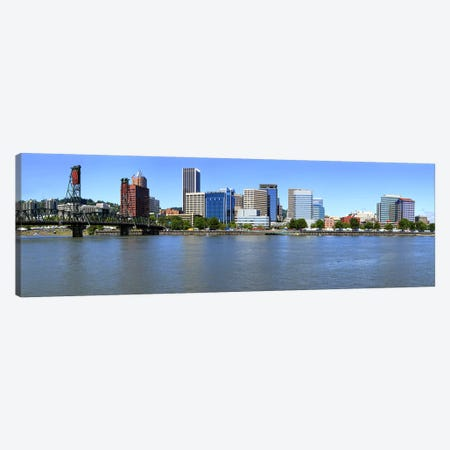 Buildings at the waterfront, Portland Rose Festival, Portland, Multnomah County, Oregon, USA 2010 Canvas Print #PIM9168} by Panoramic Images Canvas Art Print