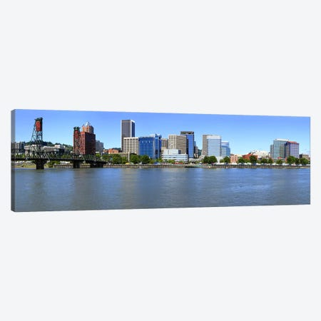 Buildings at the waterfront, Portland Rose Festival, Portland, Multnomah County, Oregon, USA Canvas Print #PIM9169} by Panoramic Images Canvas Art Print