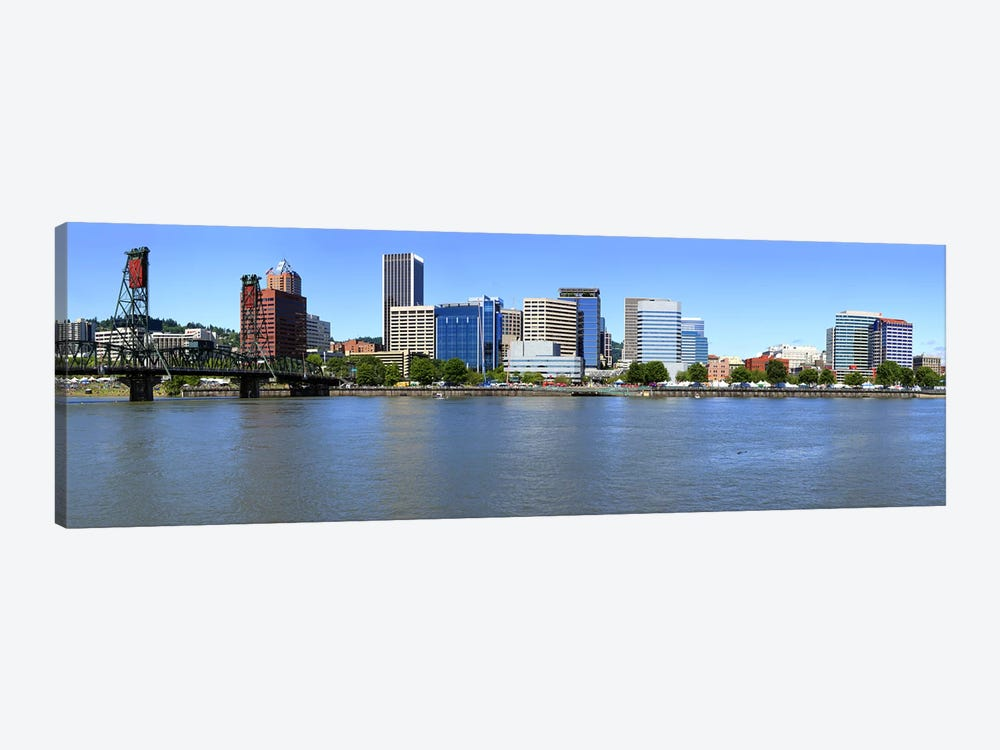Buildings at the waterfront, Portland Rose Festival, Portland, Multnomah County, Oregon, USA by Panoramic Images 1-piece Canvas Art Print