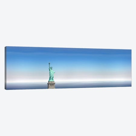 Low angle view of a statue, Statue Of Liberty, Manhattan, New York City, New York State, USA Canvas Print #PIM9178} by Panoramic Images Canvas Art