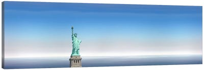 Low angle view of a statue, Statue Of Liberty, Manhattan, New York City, New York State, USA Canvas Art Print