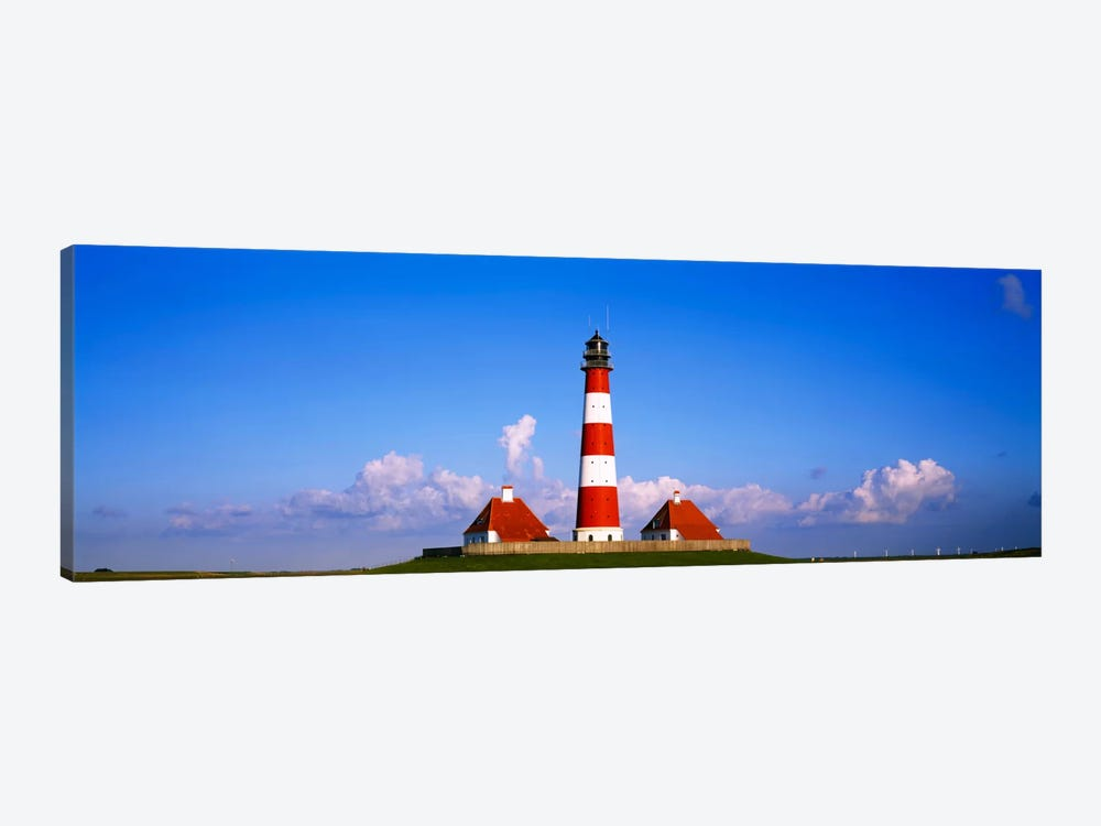 Westerheversand Lighthouse, Nordfriesland, Schleswig-Holstein, Germany by Panoramic Images 1-piece Canvas Artwork