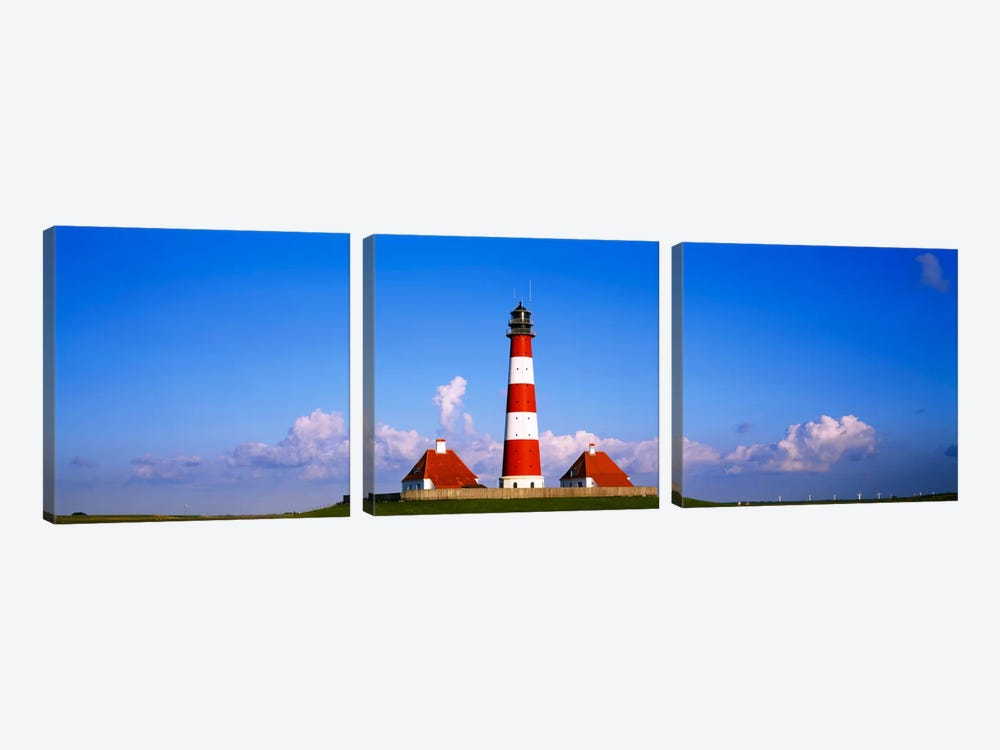 Westerheversand Lighthouse, Nordfriesland, Schleswig-Holstein, Germany by Panoramic Images 3-piece Canvas Art