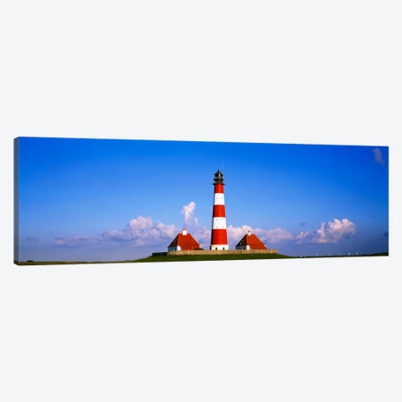 Westerheversand Lighthouse, Nordfriesland, Schleswig-Holstein, Germany Canvas Print #PIM917} by Panoramic Images Art Print