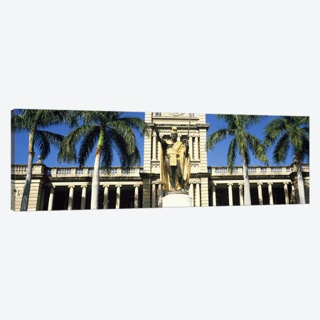 Statue of King Kamehameha in front of a government building, Aliiolani Hale, Honolulu, Oahu, Honolulu County, Hawaii, USA Canvas Print #PIM9180} by Panoramic Images Canvas Print
