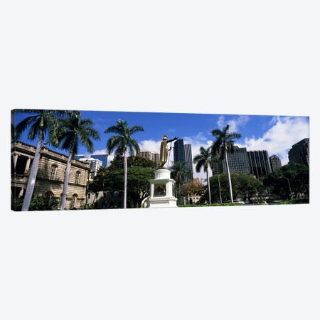 Statue of King Kamehameha in front of a government building, Aliiolani Hale, Honolulu, Oahu, Honolulu County, Hawaii, USA #3 Canvas Print #PIM9182} by Panoramic Images Canvas Art Print