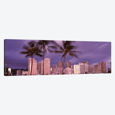 Buildings in a city, Honolulu, Oahu, Honolulu County, Hawaii, USA 2010 Canvas Print #PIM9183} by Panoramic Images Canvas Print