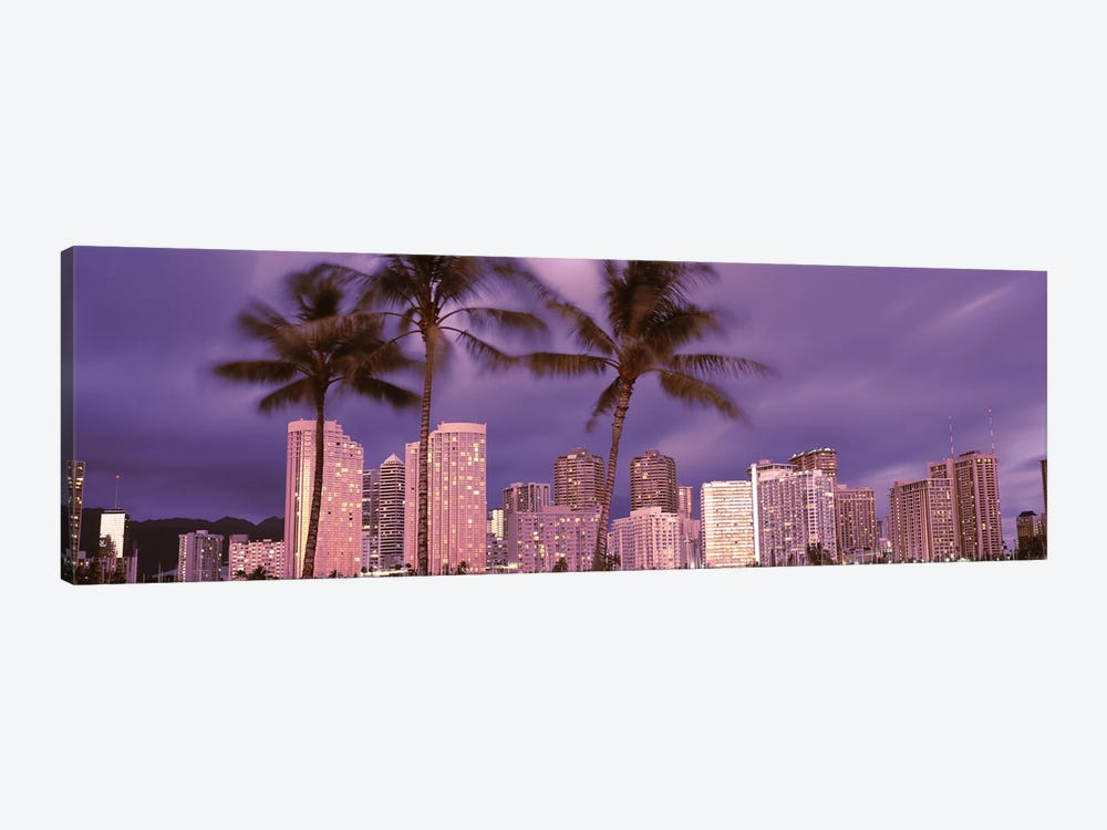 Buildings in a city, Honolulu, Oahu, Honolulu County, Hawaii, USA 2010 by Panoramic Images 1-piece Canvas Print