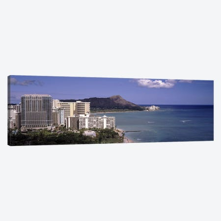 Buildings at the waterfront, Honolulu, Oahu, Honolulu County, Hawaii, USA 2010 Canvas Print #PIM9184} by Panoramic Images Canvas Art