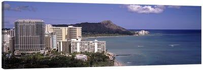 Buildings at the waterfront, Honolulu, Oahu, Honolulu County, Hawaii, USA 2010 Canvas Art Print