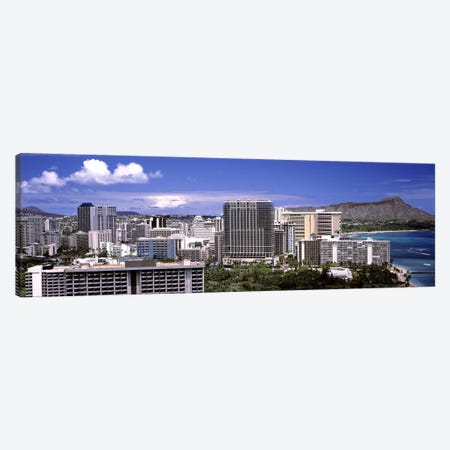 Buildings at the waterfront, Honolulu, Oahu, Honolulu County, Hawaii, USA 2010 #2 Canvas Print #PIM9185} by Panoramic Images Canvas Wall Art