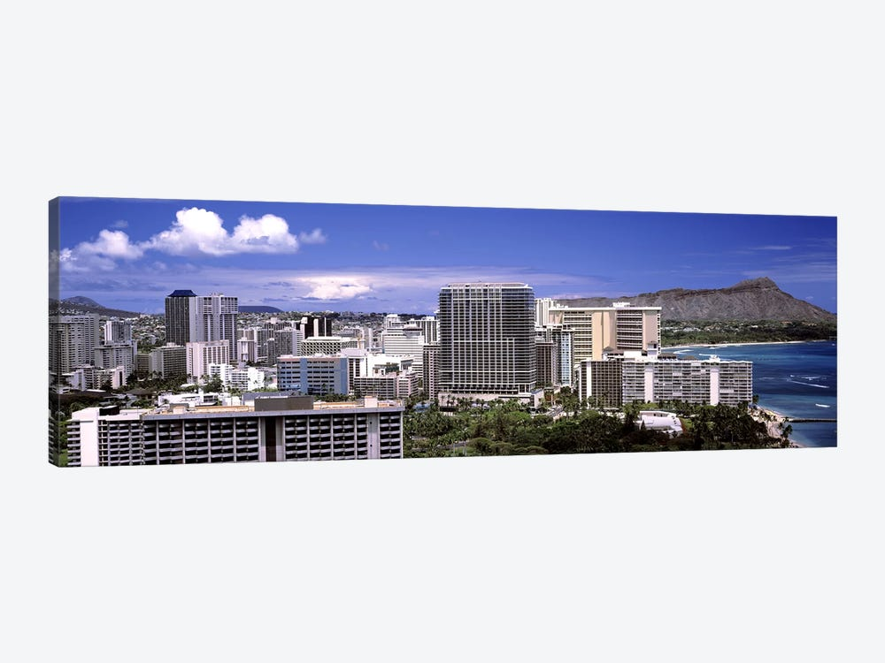 Buildings at the waterfront, Honolulu, Oahu, Honolulu County, Hawaii, USA 2010 #2 by Panoramic Images 1-piece Canvas Art Print