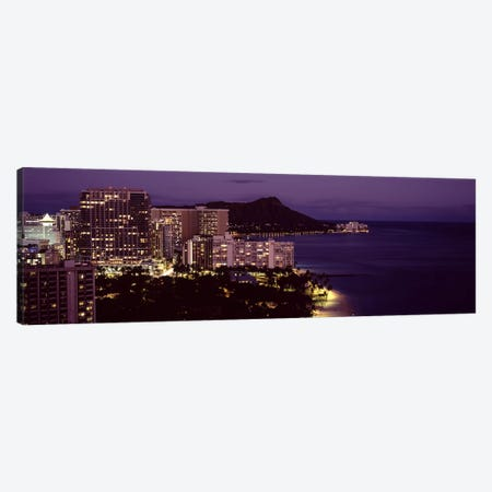 Buildings at the waterfront, Honolulu, Oahu, Honolulu County, Hawaii, USA Canvas Print #PIM9186} by Panoramic Images Canvas Artwork