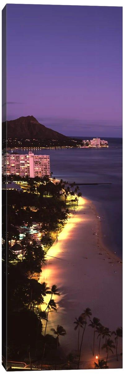 Buildings at the waterfront, Honolulu, Oahu, Honolulu County, Hawaii, USA #2 Canvas Art Print