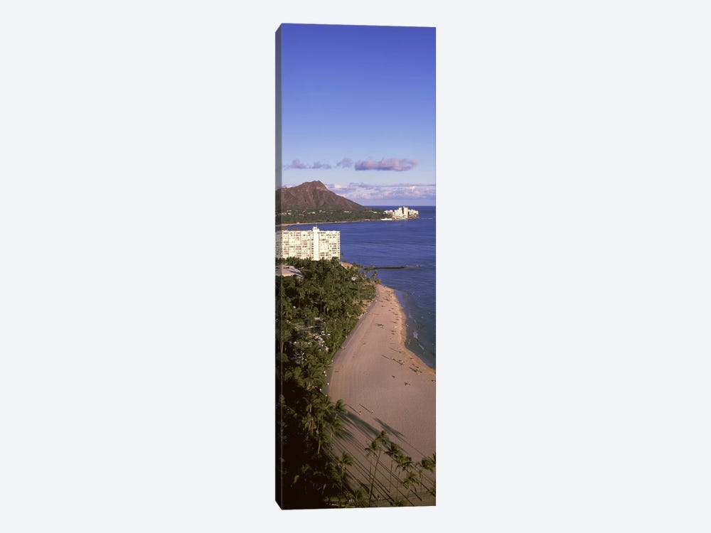 Buildings at the waterfront, Honolulu, Oahu, Honolulu County, Hawaii, USA #3 by Panoramic Images 1-piece Canvas Art