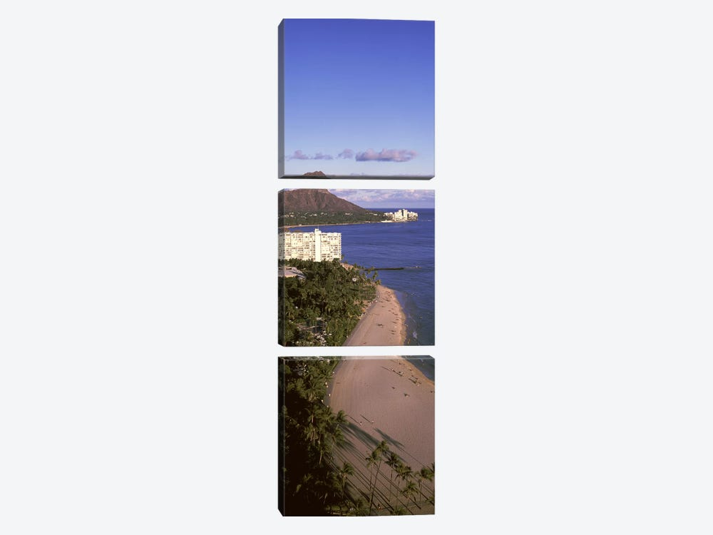 Buildings at the waterfront, Honolulu, Oahu, Honolulu County, Hawaii, USA #3 by Panoramic Images 3-piece Canvas Art