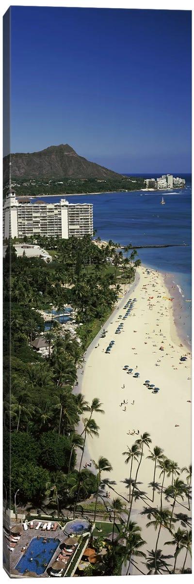 Buildings at the waterfront, Honolulu, Oahu, Honolulu County, Hawaii, USA #4 Canvas Art Print