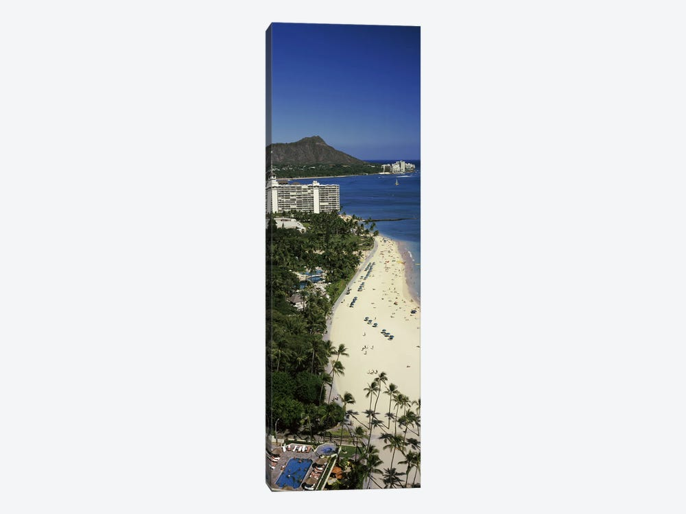 Buildings at the waterfront, Honolulu, Oahu, Honolulu County, Hawaii, USA #4 by Panoramic Images 1-piece Canvas Print