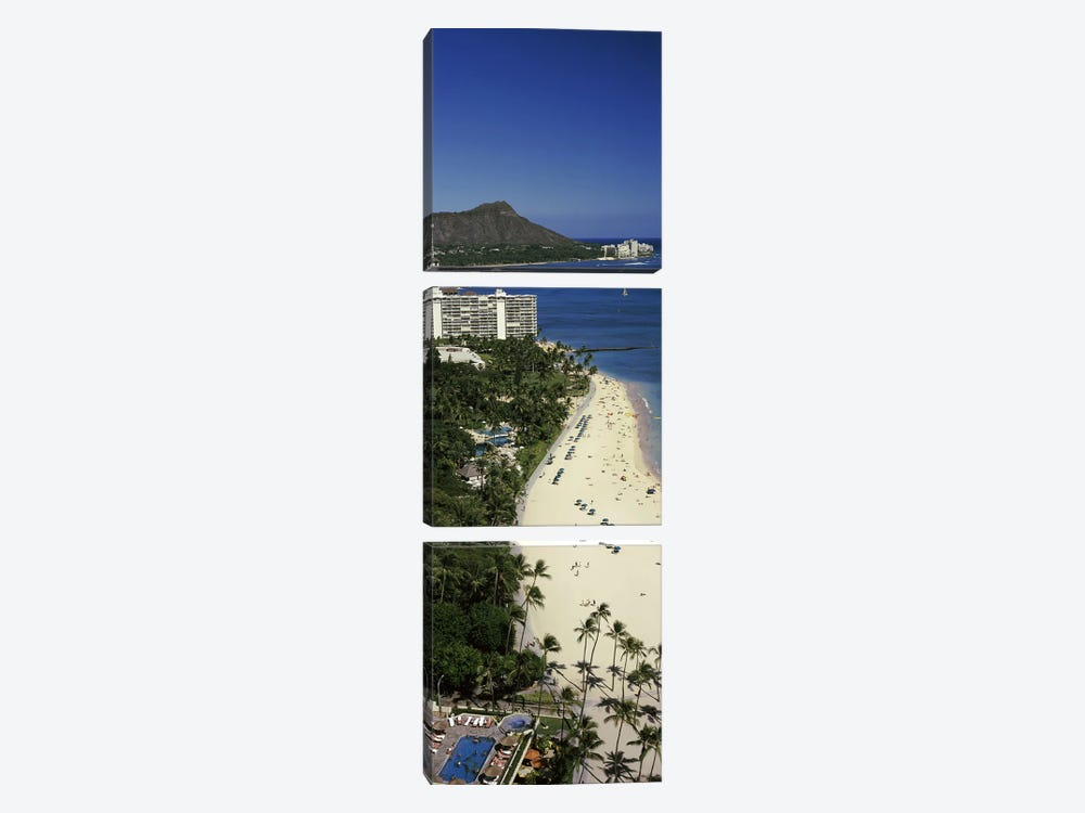 Buildings at the waterfront, Honolulu, Oahu, Honolulu County, Hawaii, USA #4 by Panoramic Images 3-piece Canvas Print