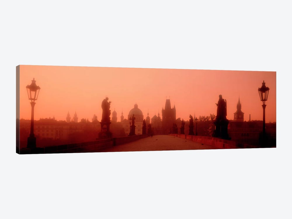 Daybreak Karluvmost Praha Czech Republic by Panoramic Images 1-piece Art Print