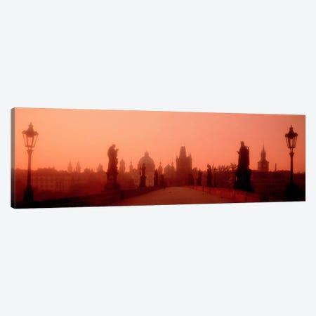 Daybreak Karluvmost Praha Czech Republic Canvas Print #PIM918} by Panoramic Images Canvas Art