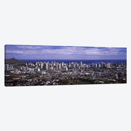 High angle view of a city, Honolulu, Oahu, Honolulu County, Hawaii, USA 2010 #2 Canvas Print #PIM9194} by Panoramic Images Art Print