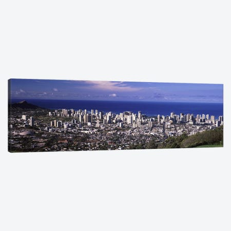 High angle view of a city, Honolulu, Oahu, Honolulu County, Hawaii, USA 2010 #3 Canvas Print #PIM9195} by Panoramic Images Art Print