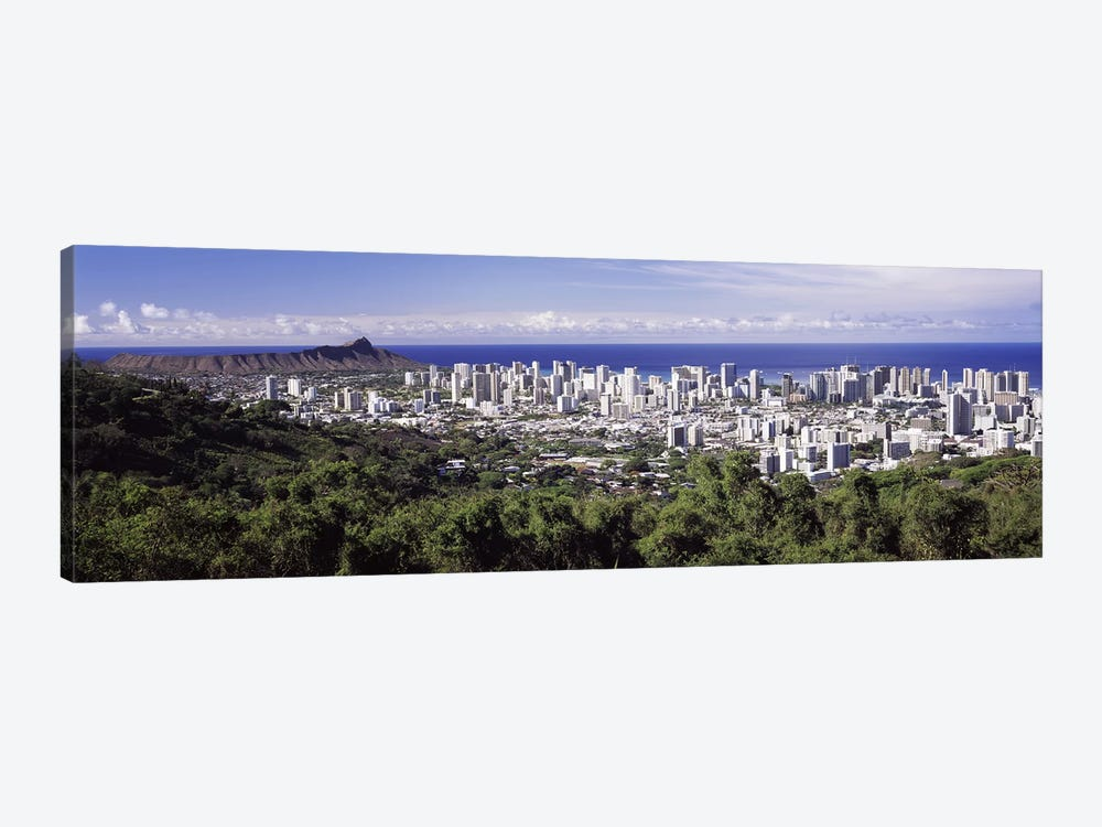 High angle view of a city, Honolulu, Oahu, Honolulu County, Hawaii, USA 2010 #4 by Panoramic Images 1-piece Art Print
