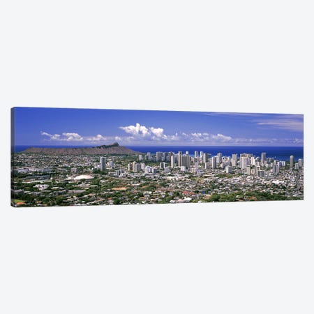 High angle view of a city, Honolulu, Oahu, Honolulu County, Hawaii, USA 2010 #5 Canvas Print #PIM9198} by Panoramic Images Canvas Art