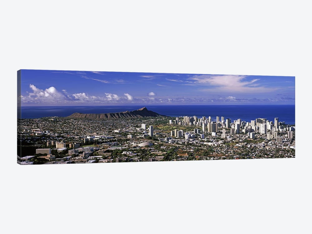 High angle view of a city, Honolulu, Oahu, Honolulu County, Hawaii, USA 2010 #6 by Panoramic Images 1-piece Canvas Art