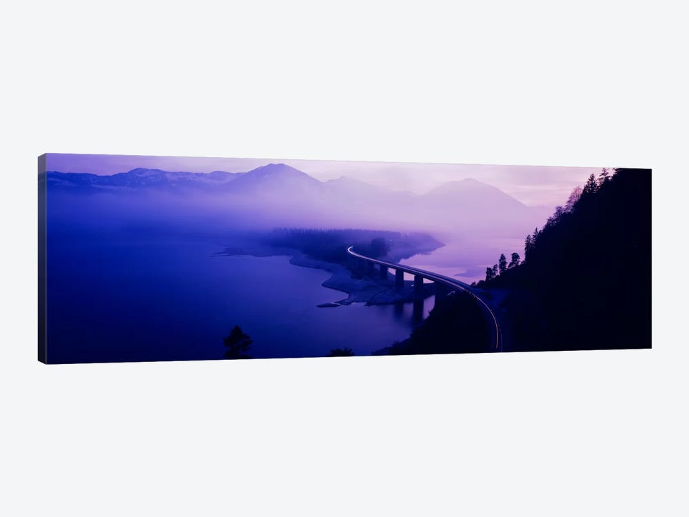Twilight road Germany 1-piece Canvas Wall Art