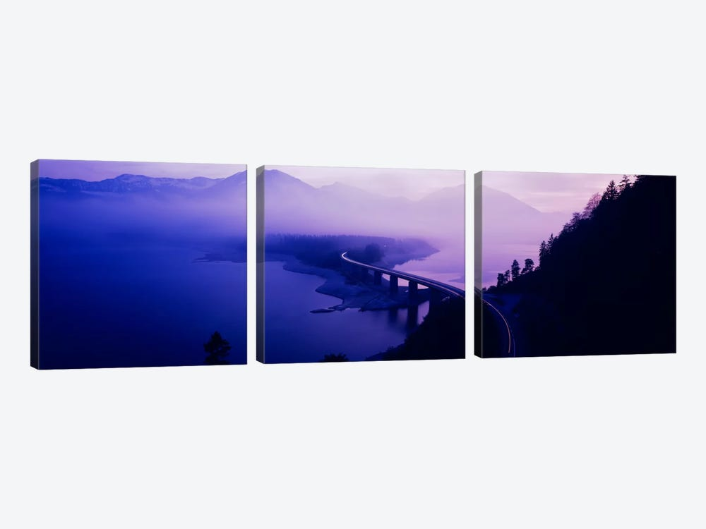 Twilight road Germany by Panoramic Images 3-piece Canvas Wall Art