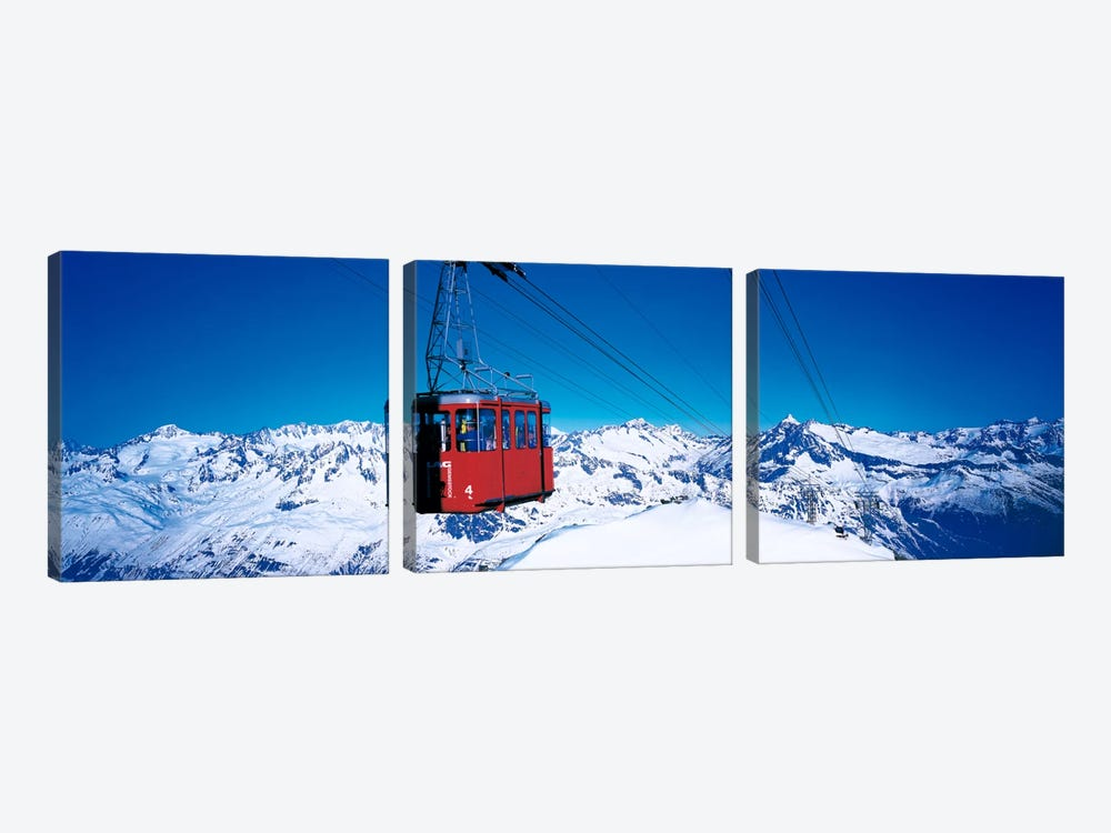Cable Car Andermatt Switzerland 3-piece Canvas Artwork