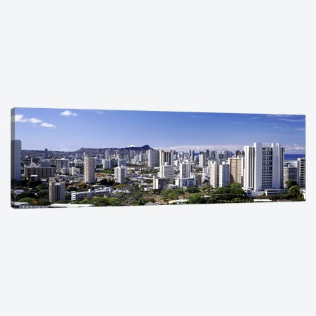 High angle view of a city, Honolulu, Oahu, Honolulu County, Hawaii, USA 2010 #7 Canvas Print #PIM9200} by Panoramic Images Canvas Art