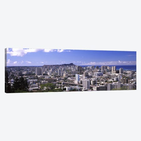 High angle view of a city, Honolulu, Oahu, Honolulu County, Hawaii, USA Canvas Print #PIM9201} by Panoramic Images Canvas Art