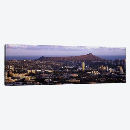 High angle view of a cityHonolulu, Oahu, Honolulu County, Hawaii, USA Canvas Print #PIM9202} by Panoramic Images Canvas Wall Art
