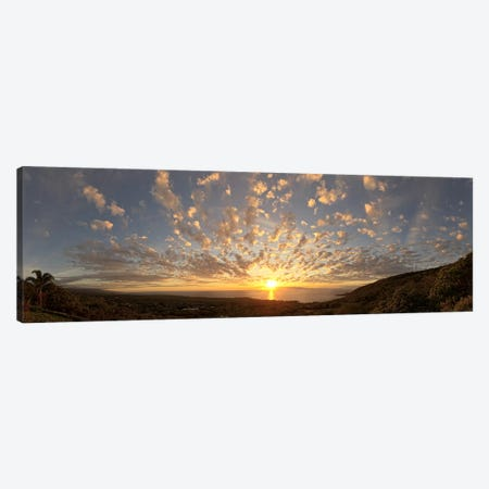 Sunset over the Pacific ocean, Kealakekua Bay, Kona Coast, Kona, Hawaii, USA Canvas Print #PIM9213} by Panoramic Images Canvas Print