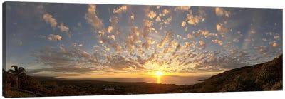 Sunset over the Pacific ocean, Kealakekua Bay, Kona Coast, Kona, Hawaii, USA Canvas Print #PIM9213