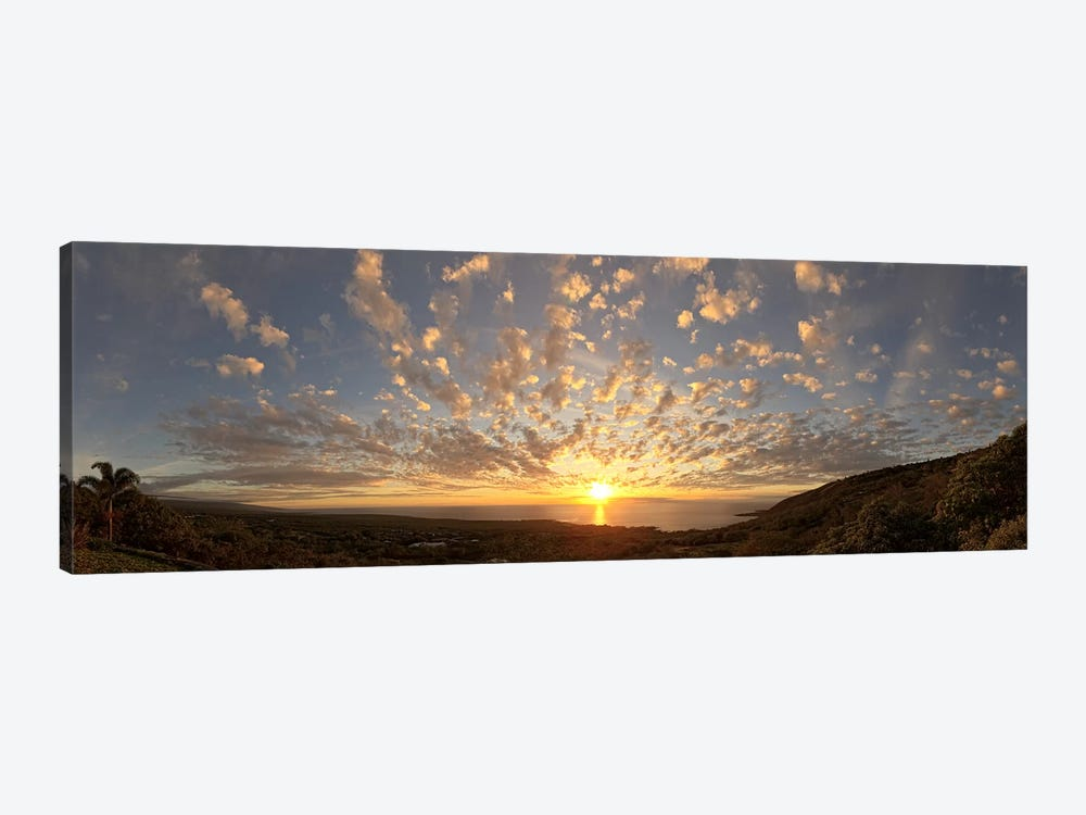 Sunset over the Pacific ocean, Kealakekua Bay, Kona Coast, Kona, Hawaii, USA by Panoramic Images 1-piece Canvas Artwork