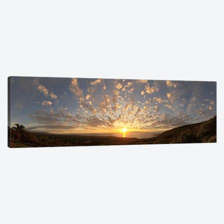 Sunset over the Pacific ocean, Kealakekua Bay, Kona Coast, Kona, Hawaii, USA Canvas Print #PIM9213} by Panoramic Images Canvas Print