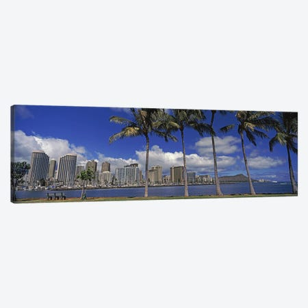 Skyscrapers at the waterfront, Honolulu, Hawaii, USA 2010 Canvas Print #PIM9214} by Panoramic Images Canvas Art