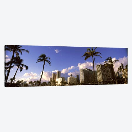 Low angle view of skyscrapers, Honolulu, Hawaii, USA 2010 Canvas Print #PIM9215} by Panoramic Images Canvas Wall Art