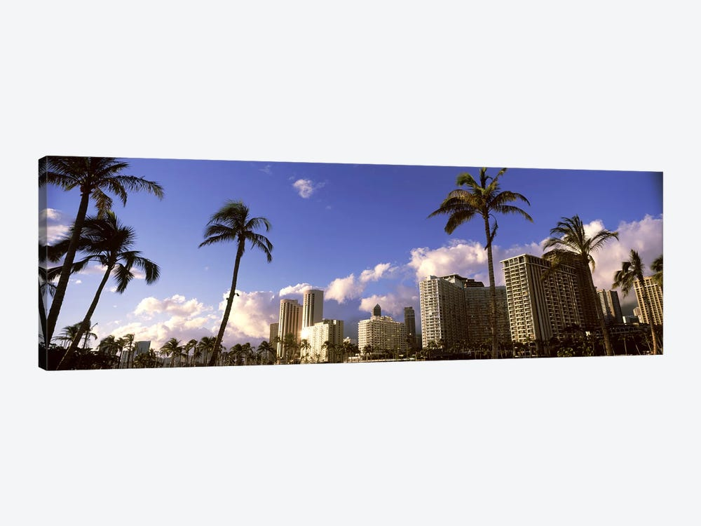 Low angle view of skyscrapers, Honolulu, Hawaii, USA 2010 by Panoramic Images 1-piece Canvas Wall Art