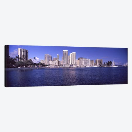 Skyscrapers at the waterfront, Honolulu, Hawaii, USA Canvas Print #PIM9217} by Panoramic Images Canvas Artwork