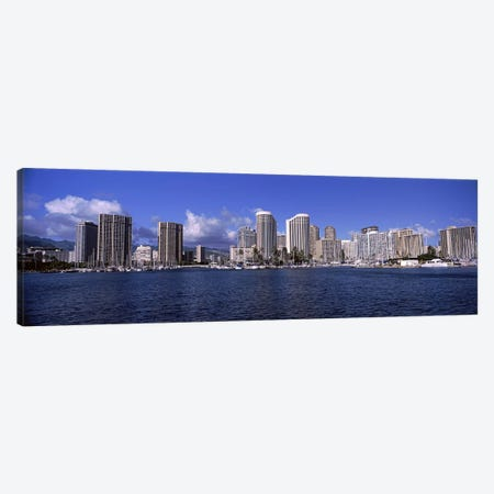 Skyscrapers at the waterfront, Honolulu, Hawaii, USA 2010 #2 Canvas Print #PIM9218} by Panoramic Images Canvas Art Print