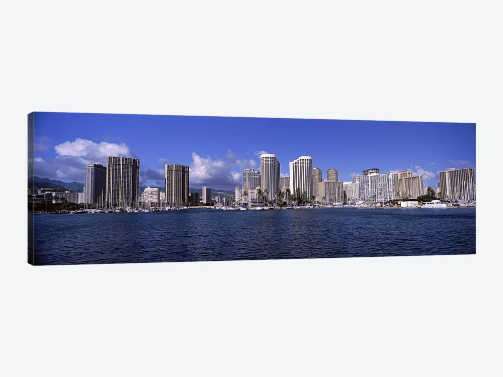 Skyscrapers at the waterfront, Honolulu, Hawaii, USA 2010 #2 1-piece Art Print